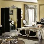 Kamar Set Model Italy Barocco Black Silver