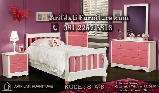Desain Kamar Tidur Anak Perempuan Warna Pink Terbaru 2017 Minimalis