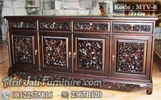 Meja TV Ukiran Antik Palembang