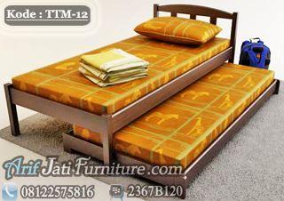 Tempat Tidur Ligna Model Sorong Minimalis