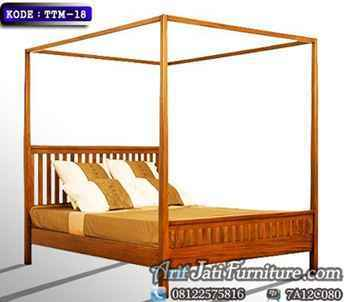 Tempat Tidur Minimalis Kanopi