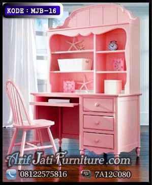 meja belajar anak pink