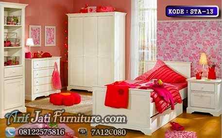 kamar set anak perempuan cat duco