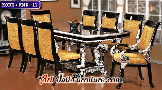 kursi makan mewah motif baru