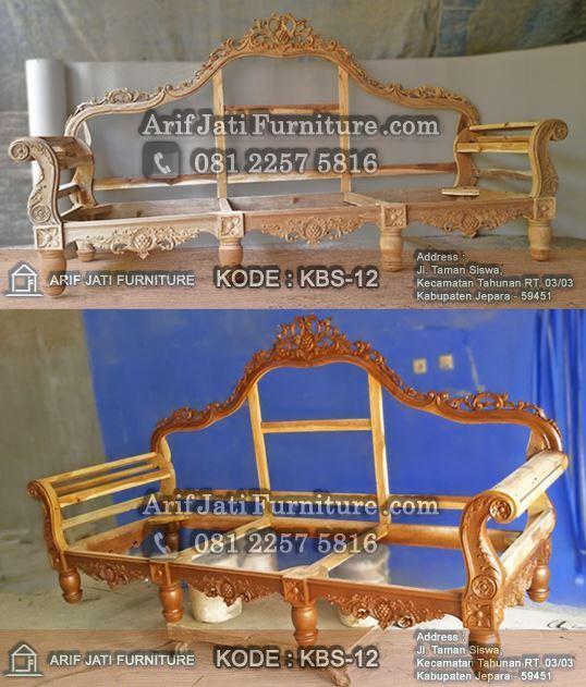 kursi sofa mewah kayu jati tpk grade a