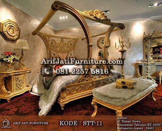 set kamar tidur kanopi cleopatra mewah