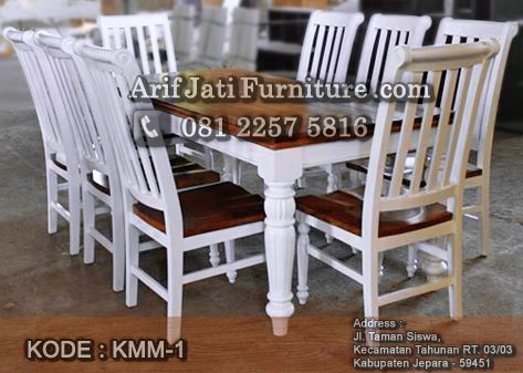 kursi makan minimalis warna putih