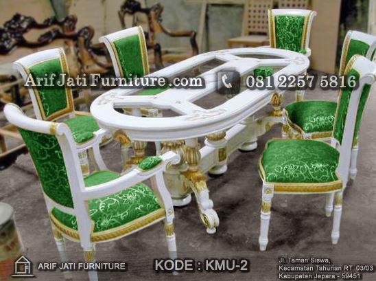 kursi makan salina jok cat duco putih
