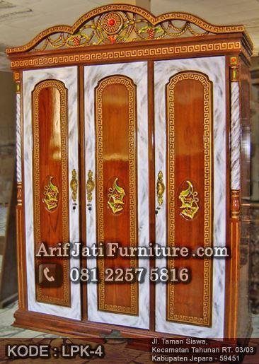 lemari pakaian tiara marmer