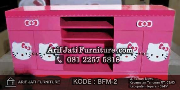 bufet meja hias hello kitty
