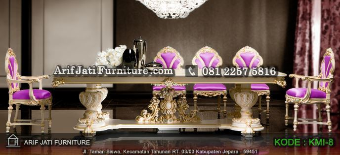 kursi makan mewah ukiran mebel jepara
