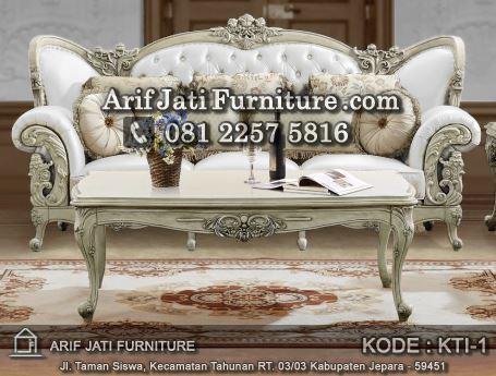 sofa tamu jepara warna putih