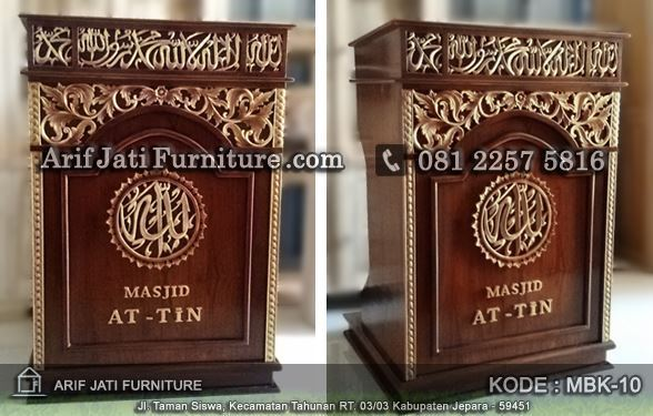 jual mimbar podium masjid terbaru