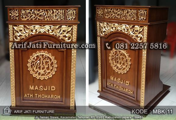 mimbar podium masjid model baru