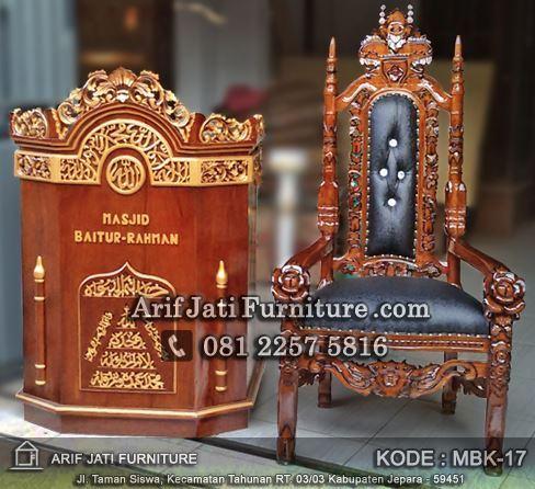jual podium masjid dan kursi murah