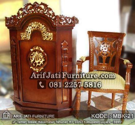 podium masjid dan kursi harga murah