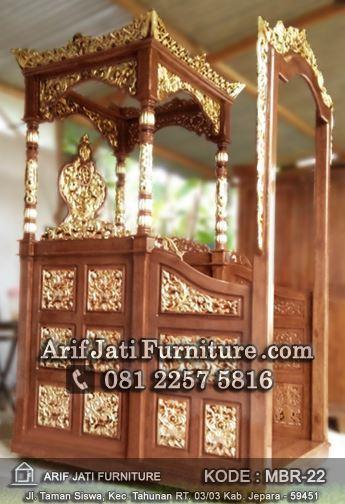 mimbar masjid model gapura