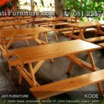 Meja Cafe Kayu Jati Indoor