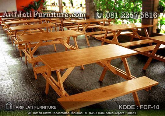 meja cafe kayu jati indoor