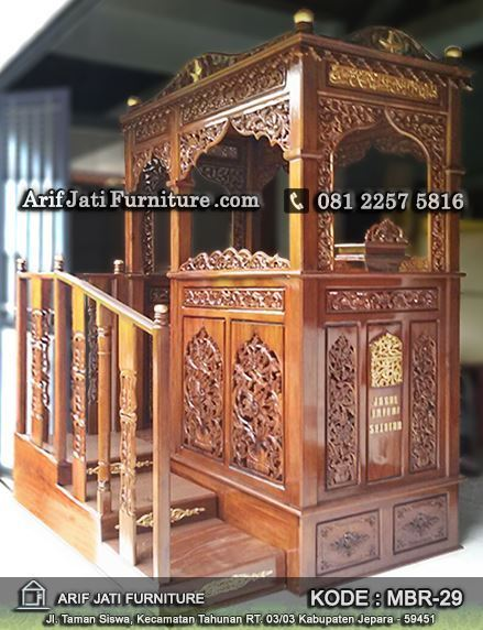 jual mimbar masjid model terbaru