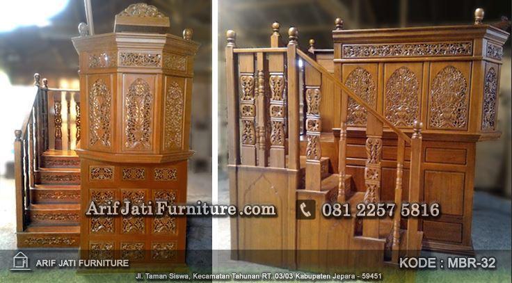 jual mimbar masjid mewah model baru