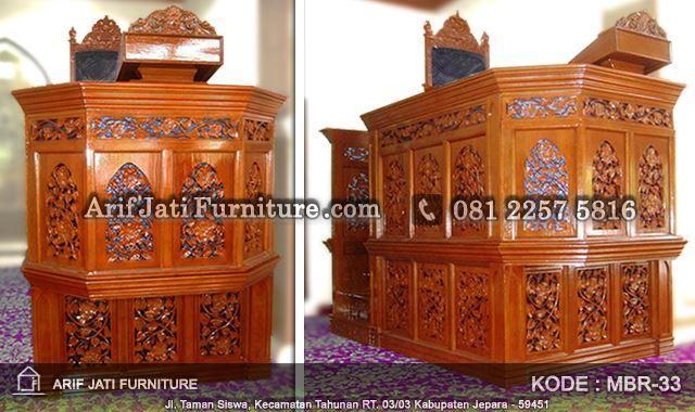 mimbar masjid model baru