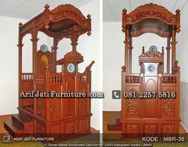 model mimbar masjid ukir jepara