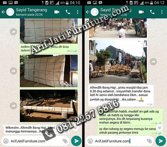 bukti Arif Jati Furniture terpercayabukti Arif Jati Furniture terpercaya