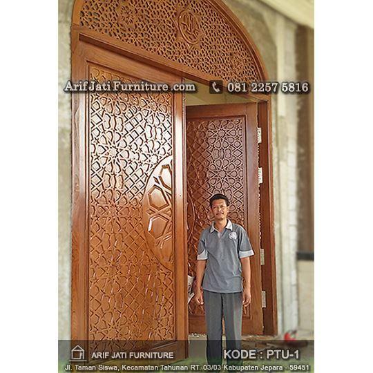 pemasangan pintu masjid jati tpk