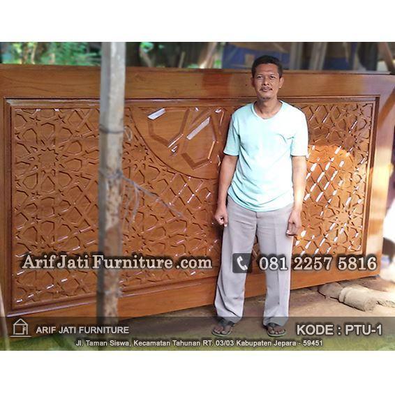 produsen pintu masjid ukir jati