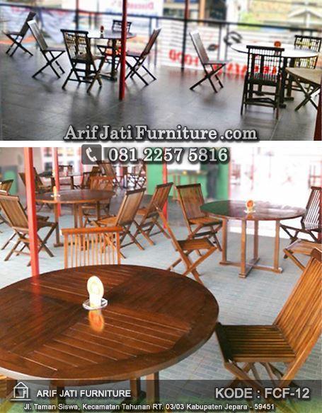 kursi cafe indoor kayu jati, kursi cafe, kursi lipat, kursi lipat kayu jati, kursi lipat untuk cafe