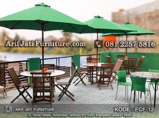 Kursi Lipat Meja Payung Untuk Cafe Arif Jati Furniture