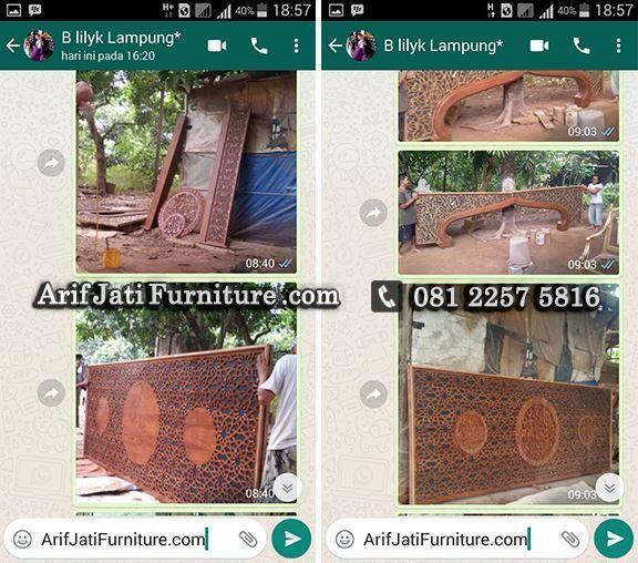 mihrab masjid produksi arif jati furniture
