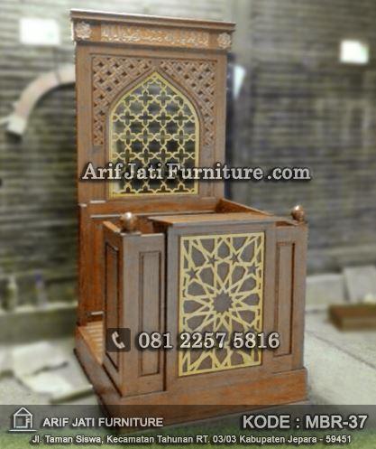 mimbar masjid arabic model terbaru