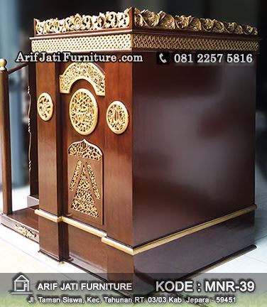 harga mimbar masjid jati ukir jepara