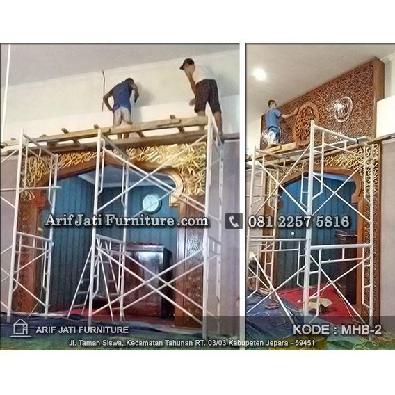 pemasangan mihrab masjid jati tpk