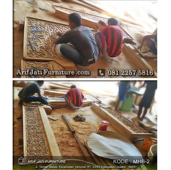 proses produksi mihrab masjid