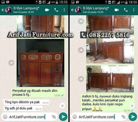 testimonial pembelian tabir masjid