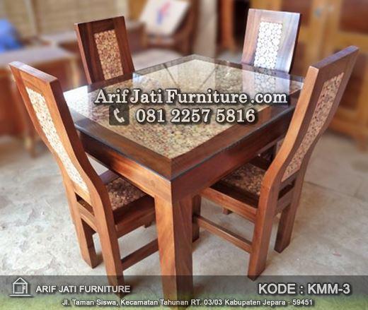 set kursi makan koin murah