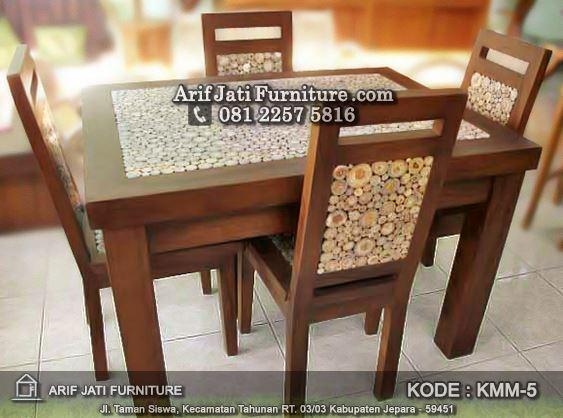 set kursi meja makan koin murah