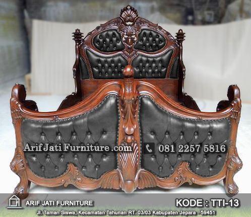 tempat tidur mewah rococo ukiran antik