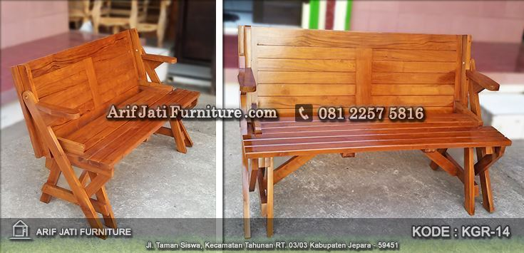 meja kursi lipat magic kayu jati