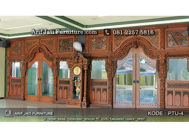 pintu utama masjid model gebyok