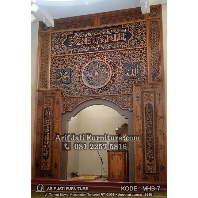 mihrab masjid kayu jati TPK