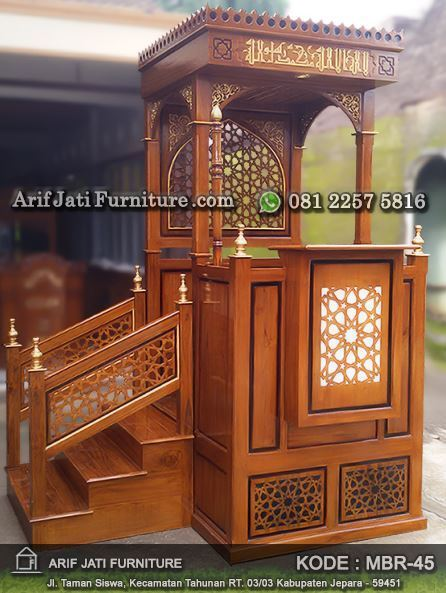 mimbar masjid minimalis tangga samping