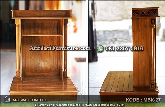 podium masjid sederhana