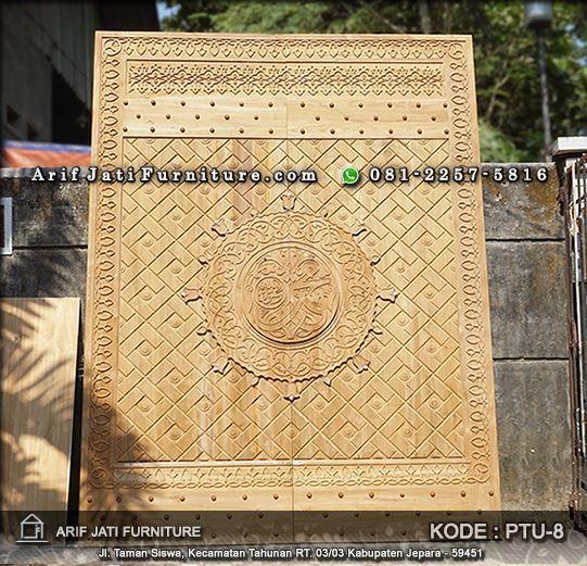 pintu masjid nabawi kayu jati super