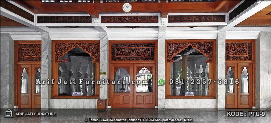 kusen pintu jendela masjid kaligrafi