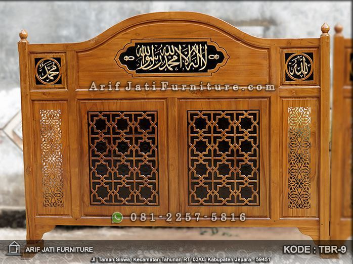 sekat masjid shaf pria wanita jati