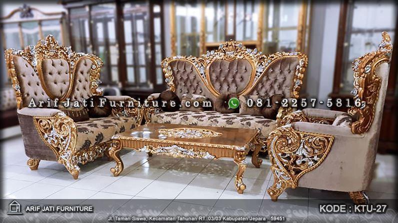 Sofa Tamu Mewah Bellagio Ukir Classic